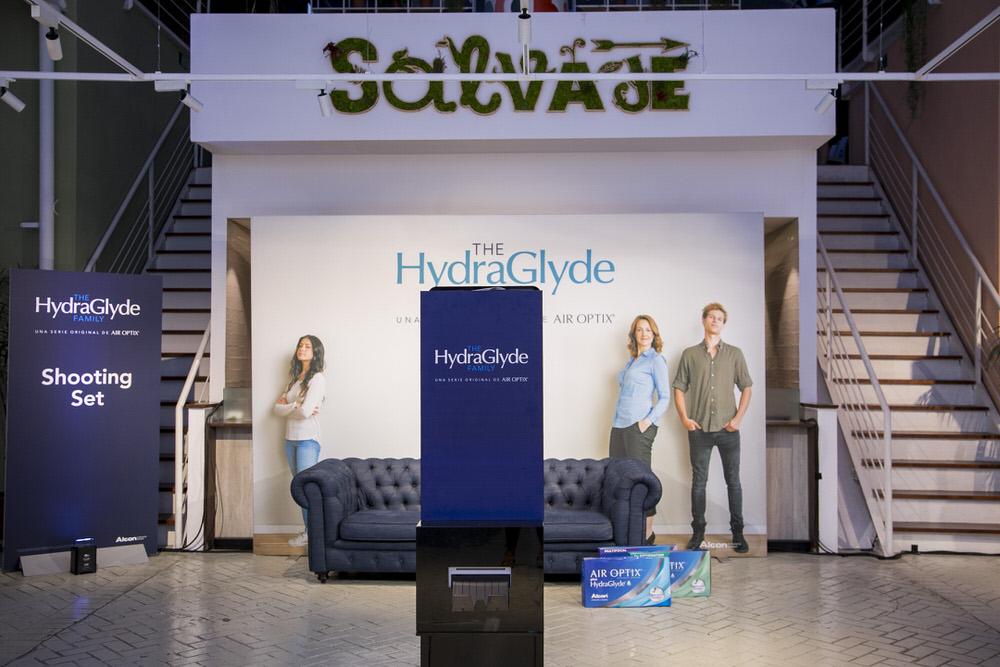 Escenografía Alcon HydraGlyde